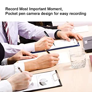 Pen Spy Camera Full HD 1080P Feipule,Video Recordering,Photo Taking,Loop Recording,Mini Camcorder with 16GB Memory Video Pen Camera for Business and Conference