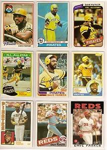 Dave Parker (9) Card Topps Baseball Lot #1 1978 1979 1980 1981 1982 1983 1984 1985 1986 Topps Cards (Pittsburgh Pirates) (Cincinnati) (Oakland)