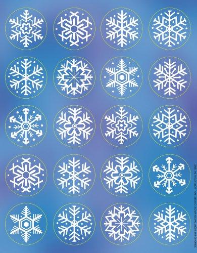 Eureka Snowflakes Stickers