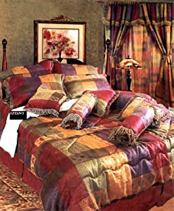 7 Pc Modern Multi Color Jacquard Duvet Cover