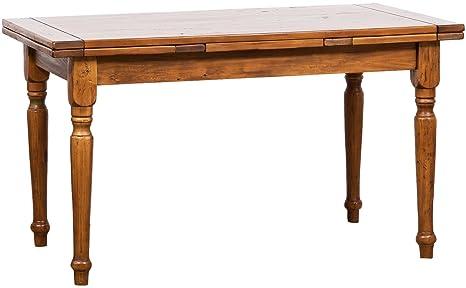 TABLE EXTENSIBLE, TILLEUL MASSIF 140x80x80 CM