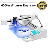 YAN'S 4500mW Off-line Laser Engraving Machine, USB Portable Household Laser Engraver, Carver Size 155x175mm, High Speed Engraving Printer for Wood, Plastic, Leather,Bamboo,Acrylic etc (4.5W)