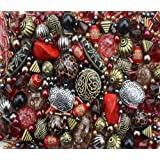 Approx 400 x Tribal Red Jewellery Making Starter Beads Mix Set