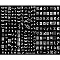 SODIAL(R) Plaque de 220 tampons Nail Art