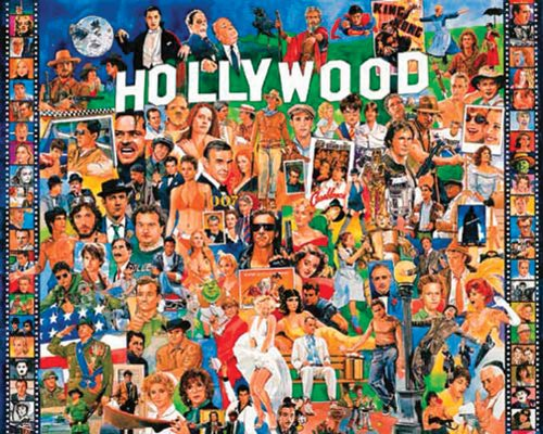 Hollywood 1000 Piece Jigsaw Puzzle by White Mountain