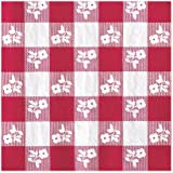 Creative Converting 18 Count Lunch Napkins, Red Gingham