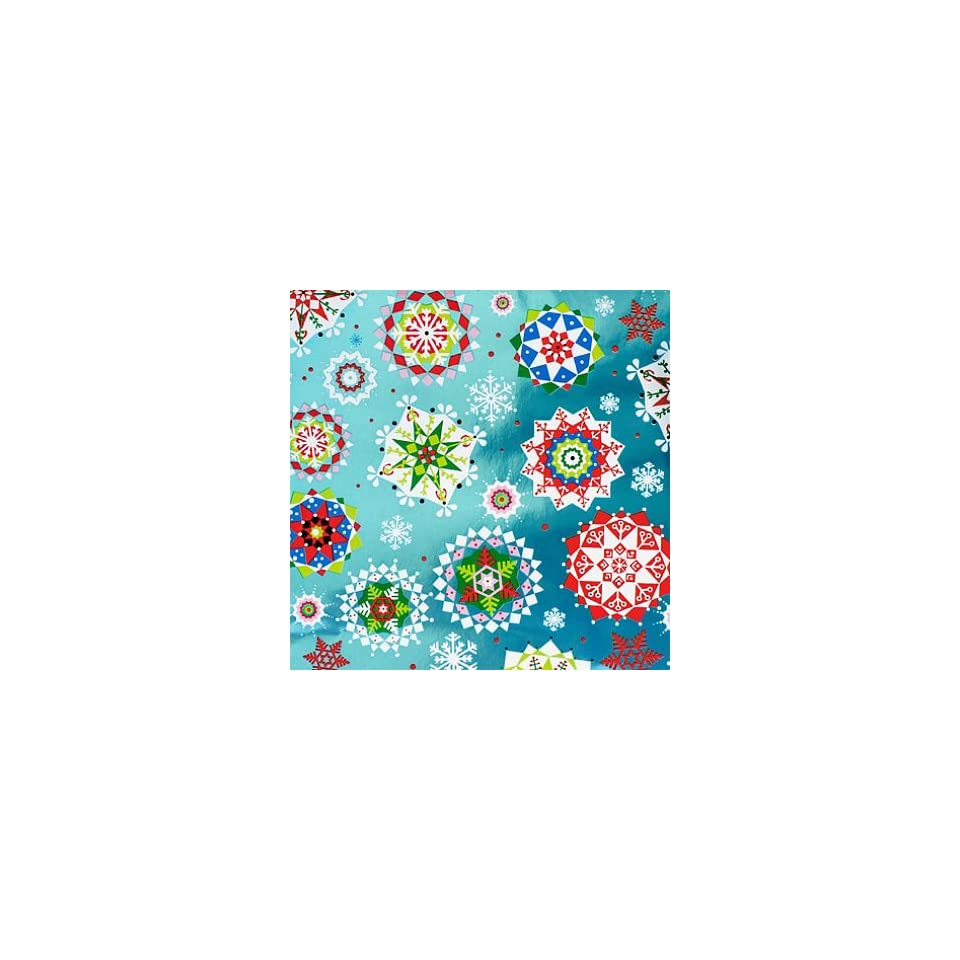 Expressions From Hallmark Foil Holiday Gift Wrap   Snowflakes