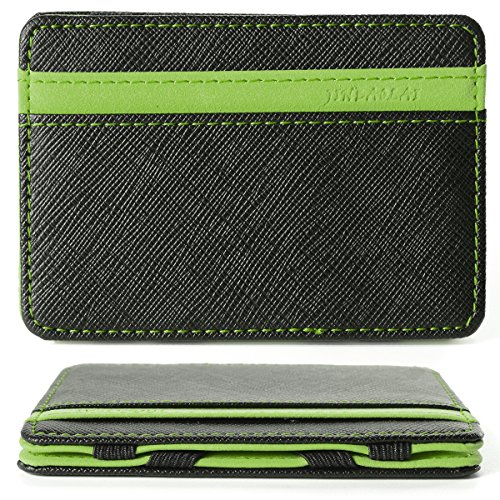 Portafoglio Magico in simili cuoio - magic wallet Credit Card Holder - porta moneta --Verde