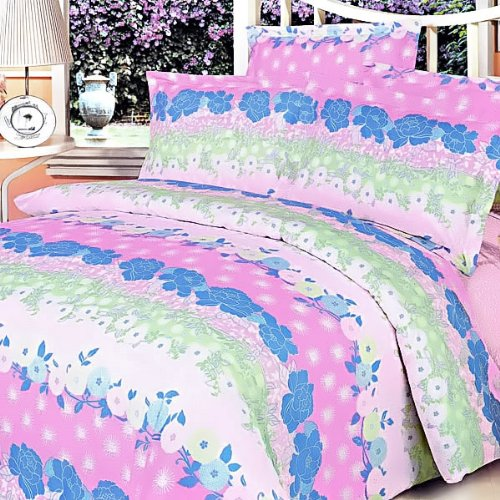 Blancho Bedding - [Pink Kaleidoscope] Luxury 7PC Bed In A Bag Combo 300GSM (Queen Size)