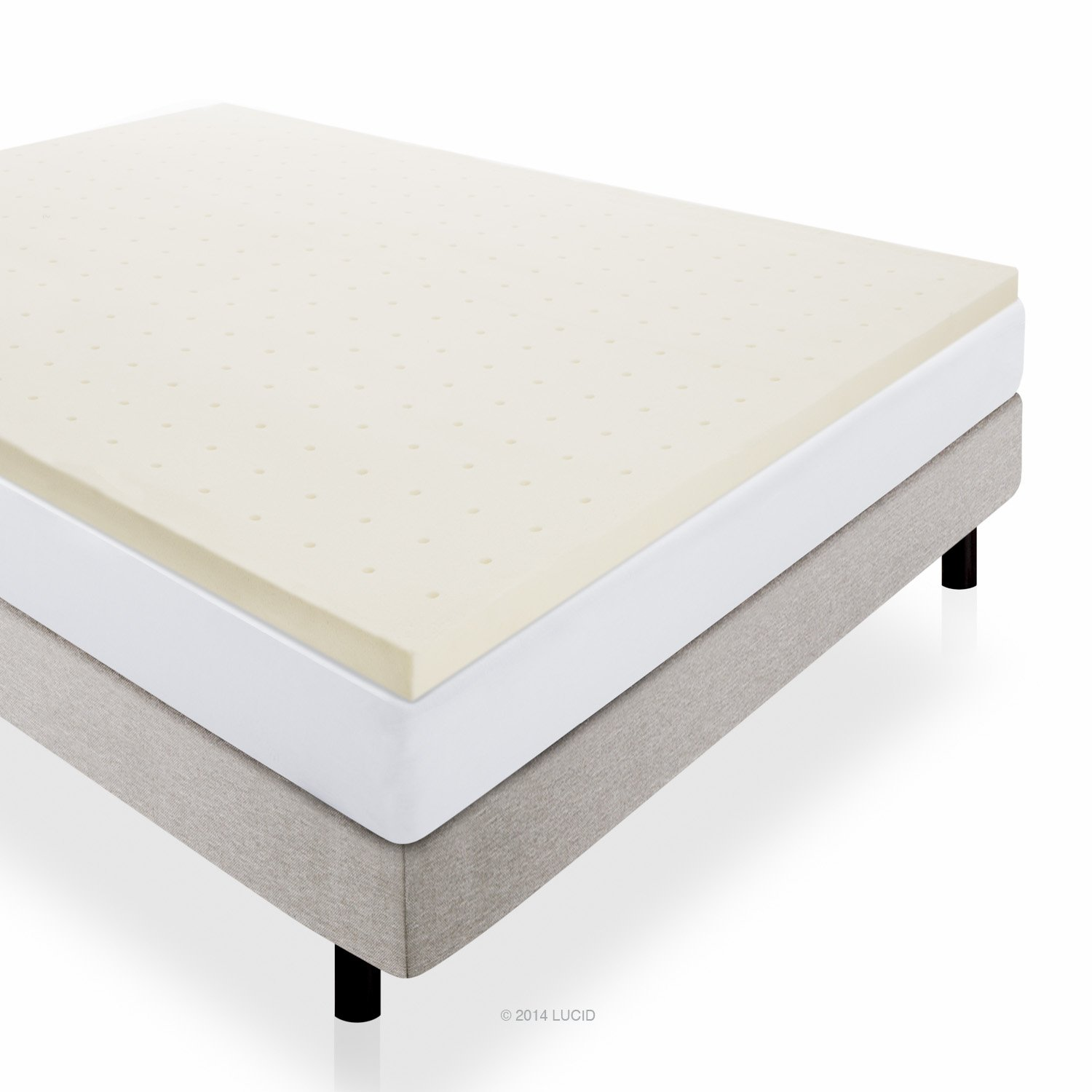 "Lucid Mattress Review 3"" Lucid by LinenSpa Memory Foam"