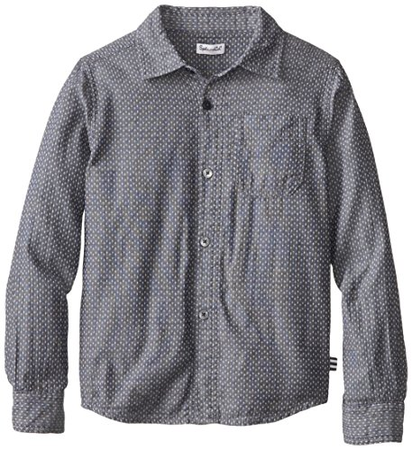 Splendid Little Boys' Dotted Chambrey Button Up, Grey, 4-5 front-937630