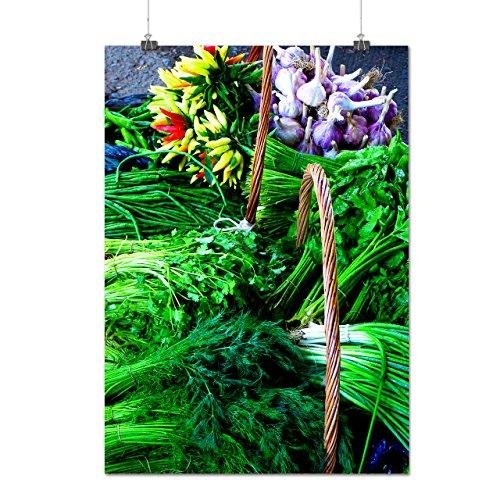 Pile De Les légume vert La vie Matte/Glacé Affiche A1 (84cm x 60cm)   Wellcoda
