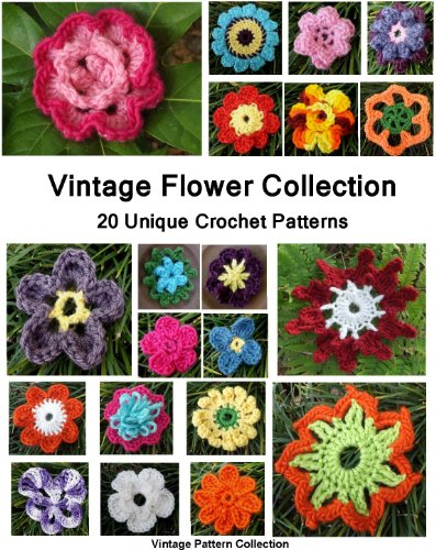 Vintage Flower Collection - 20 Unique Crochet Patterns