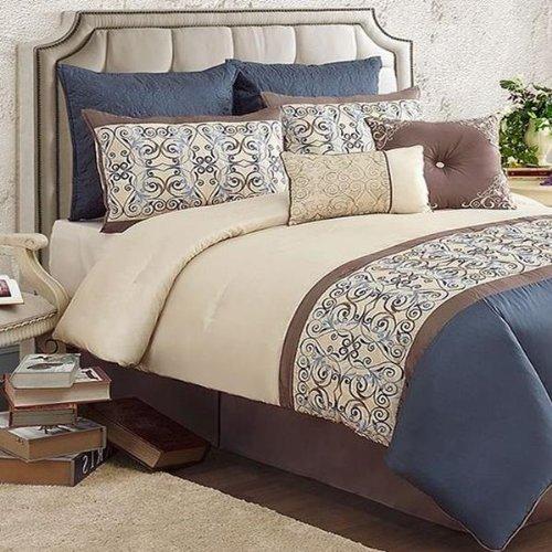 victoria classics venetian queen 8 piece comforter bed in a bag set cheap ectvmuo. Black Bedroom Furniture Sets. Home Design Ideas