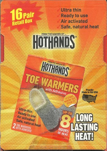 16 Pairs of HOTHANDS Toe Warmers  Adhesive (32