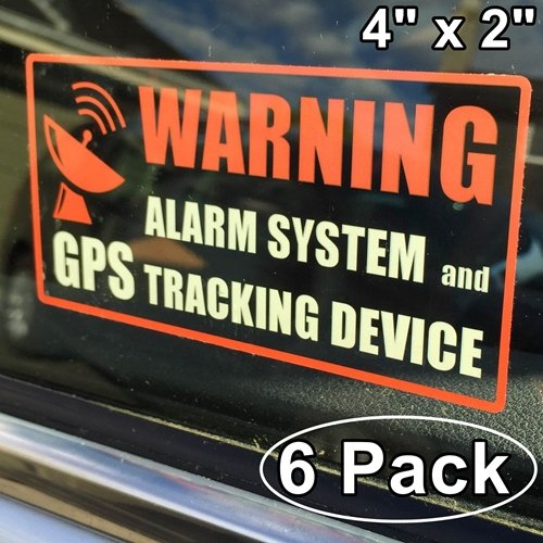 5 X Ferrari Gps Tracking Device Security Window Stickers 87x30mm Spider F40 Car Alarm Tracker
