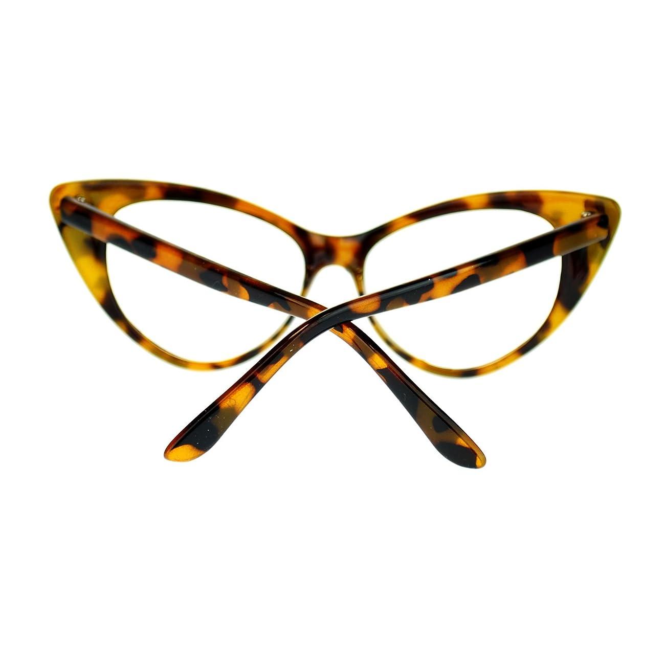 Womens Goth Mod Chic Classic Retro Cat Eye Optical Glasses 4