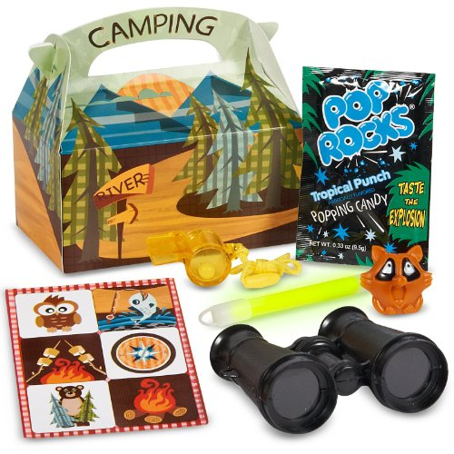 Let's Go Camping Filled Party Favor Box - 1