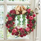 クリスマス ドライ リース「リース ド ルージュ(赤)」プリザーブドフラワー 日比谷花壇