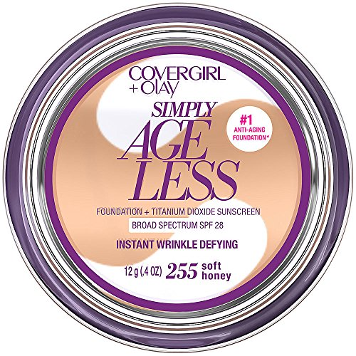 CoverGirl & Olay Simply Ageless Foundation, Soft Honey 255, 0.40-Ounce Package