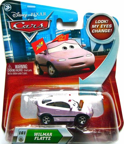 Disney / Pixar CARS Movie 155 Die Cast Car with Lenticular Eyes Series Wilmar Flattz - 1