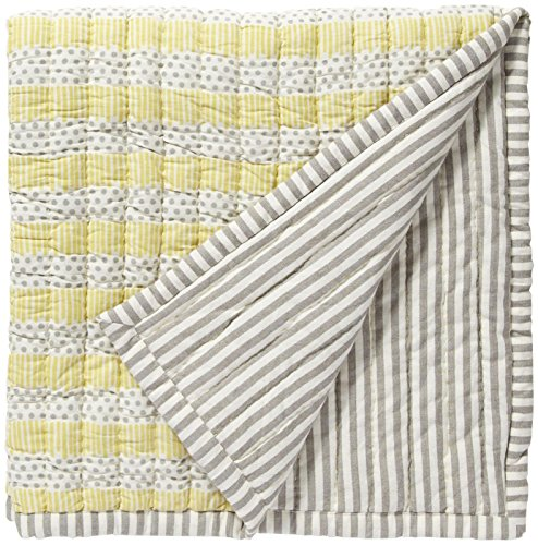Pehr Designs Quilted Nursery Blanket Neutral Grey/Yellow