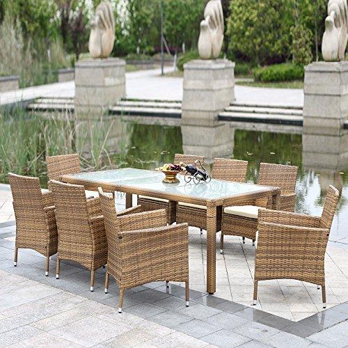 Ikayaa 9pcs Salon De Jardin En R 233 Sine Rotin Ext 233 Rieur