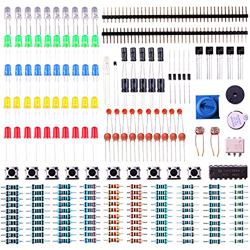 Elegoo-Electronics-Component-Basic-Starter-Kit-w-Precision-Potentiometer-buzzer-capacitor-compatible-with-Arduino-UNO-MEGA2560-Raspberry-Pi