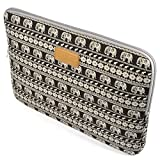 Case Star ® Bohemian Style Canvas Fabric 13-13.3 Inch Laptop Notebook Ultrabook Sleeve Bag Zipper Case for Apple Macbook Pro Retina Macbook Air 13 /13.3-Inch and Most Brands13-Inch Laptop - HP Dell Toshiba ASUS Sony Lenovo Samsung (Elephant Home)