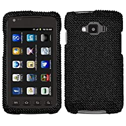 Samsung Rugby Smart Full Diamond Crystal Bling Protector Case - Black