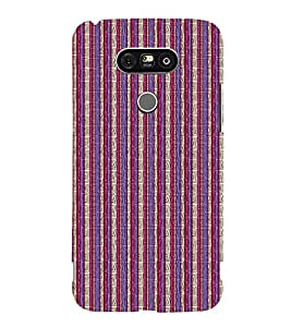 EPICCASE purple and pink straights Mobile Back Case Cover For LG G5 (Designer Case)
