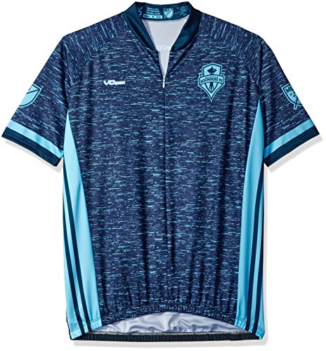 MLS Seattle Sounders FC Women's Third Short Sleeve Cycling Jersey, Medium, Blue (Sounders Cycling Jersey compare prices)