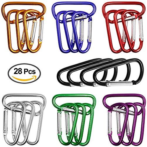 28pcsSac-en-aluminium-MousquetonDLAND-28pcs-MAINC-Couleurs-25-cm-assortis-Forme-D-ressort-Porte-en-aluminium-Mousqueton-pour-la-maisonRvCampingpcherandonne-pdestreVoyages-et-porte-cls