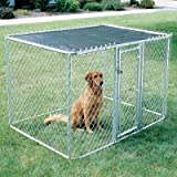 Midwest Homes for Pets Chain Link Portable Kennel - Includes a Sunscreen