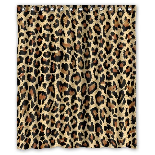 Modern Fashion Sexy Leopard Print Shower Curtain (New Waterproof Polyester Fabric)(60
