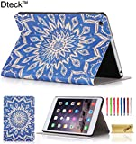 iPad Mini/ Mini Retina/Mini 3 Case, Dteck(TM) Ultra Slim [Lightweight] PU Leather Flip Folio Smart Stand Case Cover with [Auto Wake/Sleep Function] for Apple iPad Mini 3/ 2/ 1 (Blue Flower)