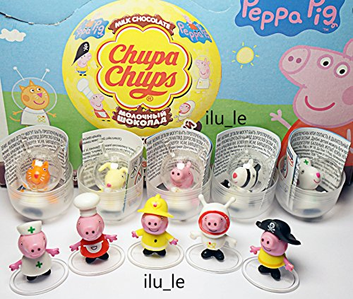 [RusToyShop] 6psc peppa pig ONLY TOYS in shells