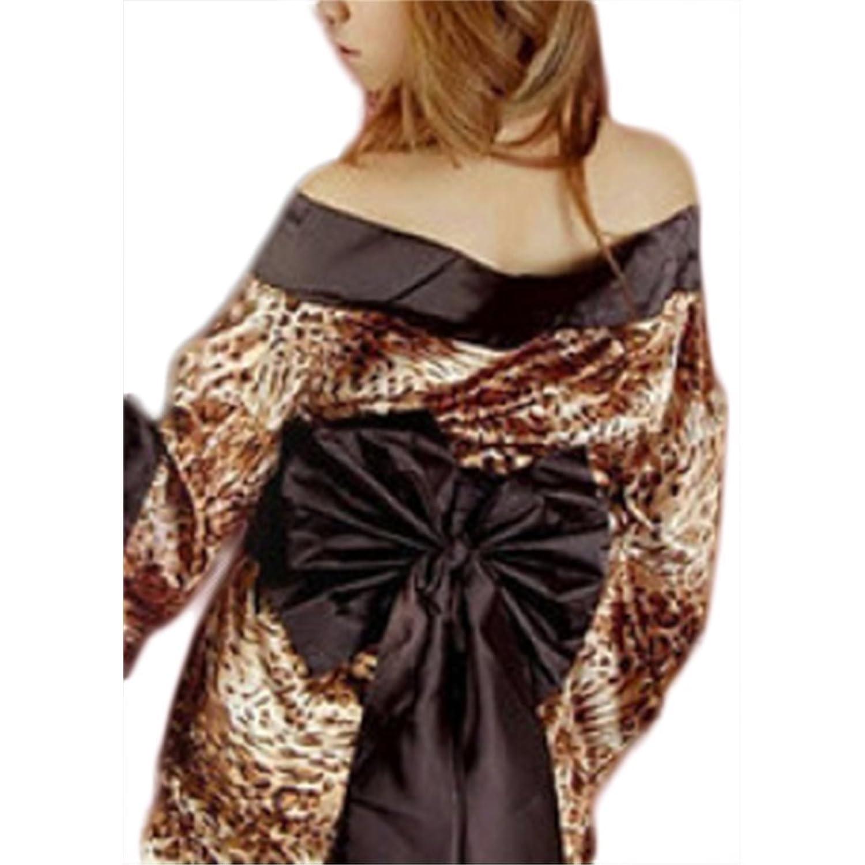 Waooh - Nachahmung Leopardenfell Kimono Pamuy