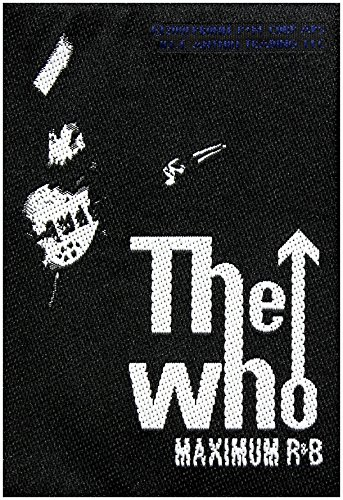 THE WHO in gomma MAXIMUM R&B Patch 7 x 10 cm Rock
