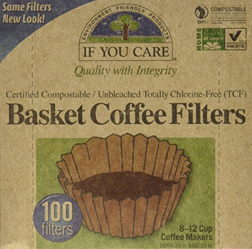 If You Care Coffee Filter Baskets ( 1x100 CT ), Fits 8-12 Cup Drip Coffee Makers (Coffee Filter 10 Cup compare prices)