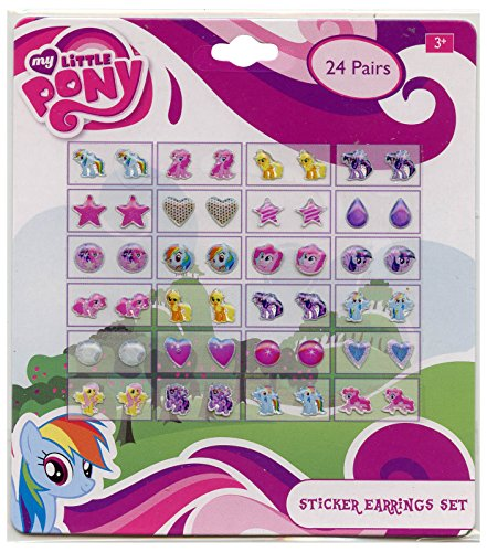 My Little Pony Girls 24 Pair Sticker Earrings (Pack of 3)