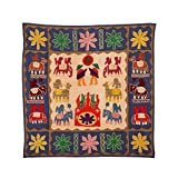 Rajrang Home Décor Embroidered Patch Work Beige Wall Hanging - B00TQRKVYS