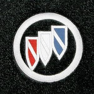 Logo 2009-2011 Buick Lucerne Luxury 4 Pc Car Mat Set Luxury Cruiser Mat Color: Titanium Grey Mat Logo: Buick Emblem Applique