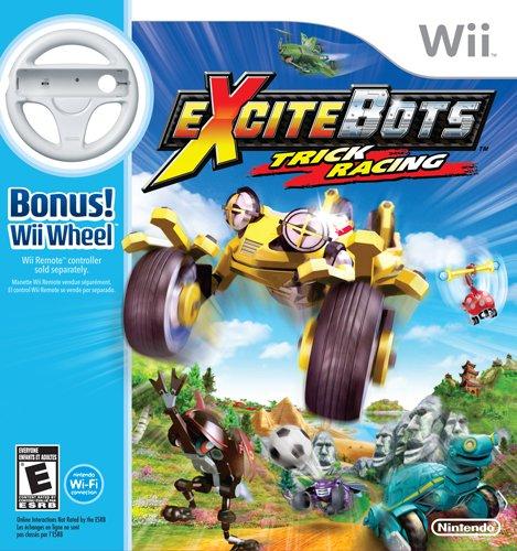 ExciteBots: Trick Racing with Wii Wheel Bundle