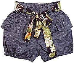Oye Girl'S Short With Belt - Grey (3-4Y)