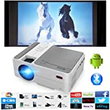 Bluetooth WiFi HDMI Portable Mini Projector 3200 Lumen, Pocket Size LED LCD Multimedia Movie Gaming Wireless Home Theater Projector Support 1080p with HDMI USB Speaker for iPhone iPad Fire TV Stick PC (Color: Mini Projector 3200 Lumen-WiFi-Bluetooth)