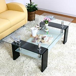 センターテーブル 「マックス」 【ブラック色(黒色)】4色対応 テーブル