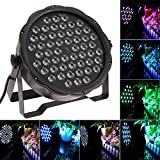 JUDYelc 54 LED Parabolic Aluminum Reflector(PAR) 7 Channels Lights for Stage flashing with 4 Work Models RGB Poweful Stage Lamp 100W Big Power for DJ Club Wedding Family Party Disco Celebration (Color: 54 Leds, Tamaño: 54 Leds)