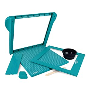 Screen Sensation Screen Printing Kit, Portable for use on All Surfaces - Create Desings on Fabric, Walls, Wood, Paper and More - Deluxe Kit - 12x12 Screening Surface (Tamaño: 12 x 12)