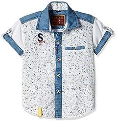 Seals Boys' Shirt (AM8101_1_White and Blue_3)